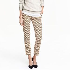 H&M size 8 geometric patterned women's trousers